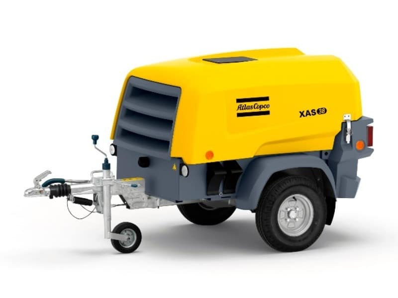 xas38 mobiele compressor van Atlas Copco