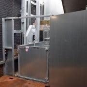 Goederenlift Landstede in schacht open
