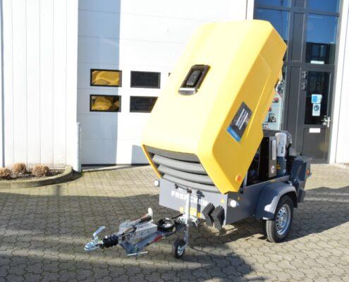 Dieselgedreven compressor FHS Frencken Handel en Service