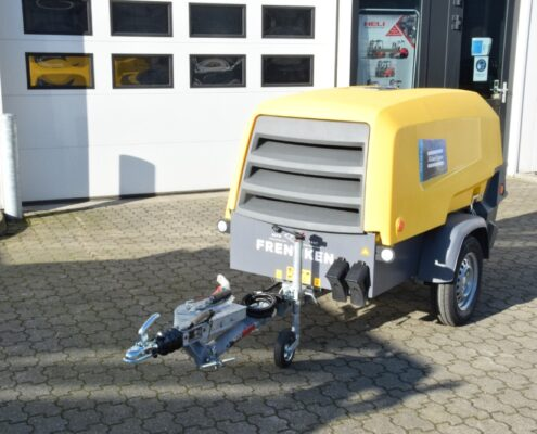 Dieselgedreven compressor bij Frencken