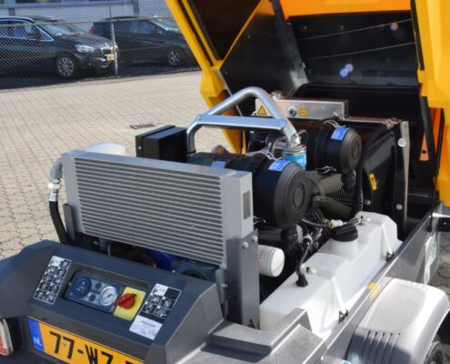 Dieselgedreven compressor geleverd aan een klant