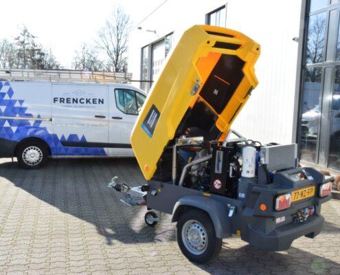 Frencken heeft Dieselgedreven compressor geleverd